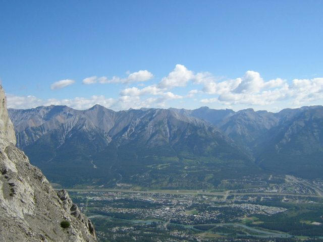 Canmore from the top of Ha Ling